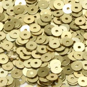 Sequins, Light Yellow, Diameter 4mm, 1680 pieces, 8g, Disc shape, Sequins are shiny, [CZP317]